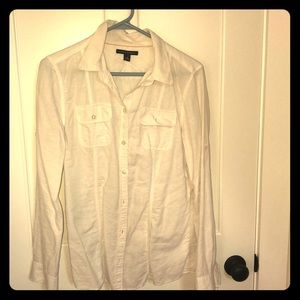 Banana republic white utility shirt